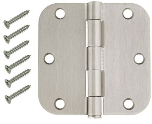 "30 Pack 3.5"" Satin Nickel Interior Door Hinges with 5/8"" Radius Hinge"