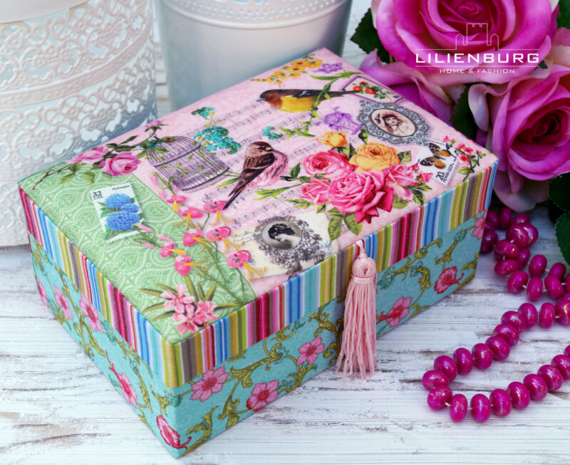 Schmuckkasten Schmuckkästchen Schmuckkoffer Schmuckschatulle rosa Mädchen Kinder Rosa L