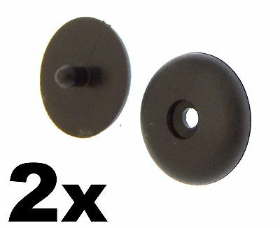 2x Universal Seat Belt Buckle Buttons- Holders Studs Retainer Stopper Rest