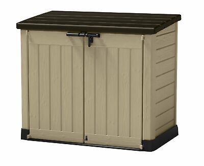 Keter Store-It Out Max Outdoor Plastic Garden Storage Shed, Beige and Brown,