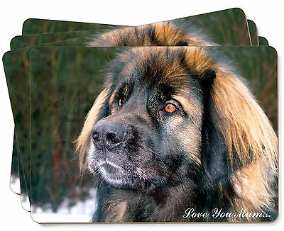 Black Leonberger 'Love You Mum' Picture Placemats in Gift Box, AD-L56lymP