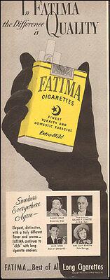 1951 Vintage ad for FATIMA Cigarettes`Black Glove Tobacco   ( 032117)