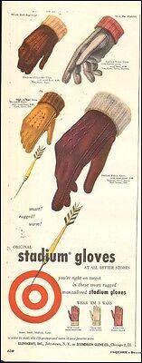 1953 vintage AD Stadium Men's Gloves , wear 3 ways ! 32617