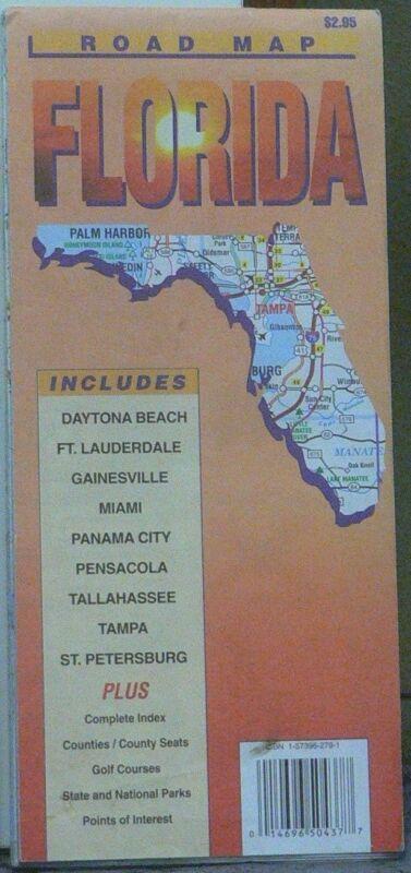 1999 Road Map of Florida