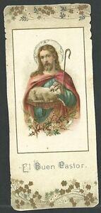 Estampa-antigua-del-Buen-Pastor-andachtsbild-santino-holy-card-santini