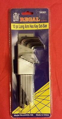 Regal 10 Piece Long Arm Hex Key Set (Standard) New Unopened.