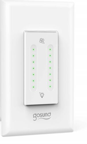 Gosund Smart Dimmer Switch, Smart WiFi Light Dimmer and Fan Speed Control Dual S