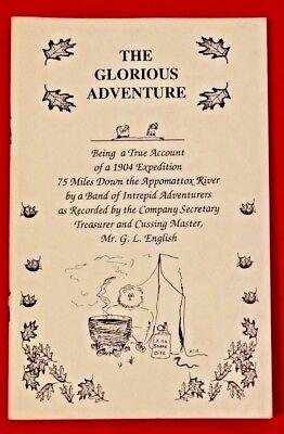 THE GLORIOUS ADVENTURE Amelia Powhatan Zoar Petersburg VA history book batteaux
