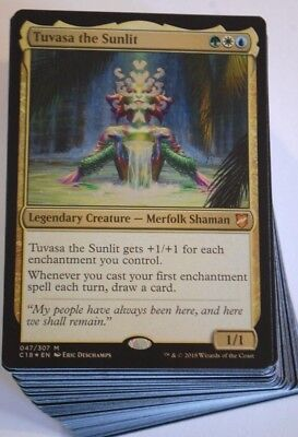 (***Custom Commander Deck*** Tuvasa the Sunlit, Enchantments EDH Magic Cards)