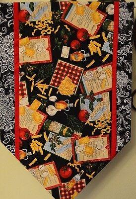 Table Runner Decoration Black White Red Cotton New Handmade 12