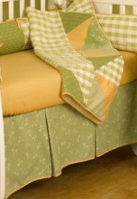 Dragonfly Crib Bedding Set - COTTON TALE  UNISEX GREEN/ ORANGE DRAGONFLY BABY CRIB BEDDING SET with EXTRAS