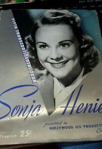 1941 Hollywood Ice Productions Chicago Sonja Henie Program