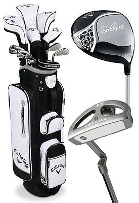 Used, NEW CALLAWAY SOLAIRE LADIES COMPLETE GOLF PACKAGE SET - BLACK 13 PIECE SET 2016 for sale  Shipping to South Africa
