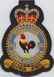 RAF-no-43-Squadron-Royal-Air-Force-Embroidered-Crest-Badge-Patch-MOD-Approved