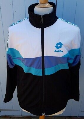 Vintage Lotto Taped Tracksuit Track Top Jacket Small