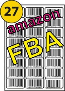 20 x A4 Sheets 540 Labels Address Barcode Suitable For Amazon FBA 27 per page