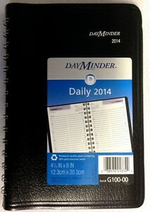 AT-A-GLANCE DAY MINDER 2014 DAILY APPOINTMENT PLANNER # G100-00  MADE IN USA