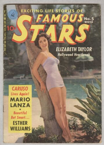 Famous Stars #5 Winter 1951 VG Elizabeth Taylor photo cover