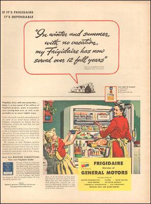 1944 Vintage ad for Frigidaire Refrigerators`WWII era Art Little Girl   (021718)