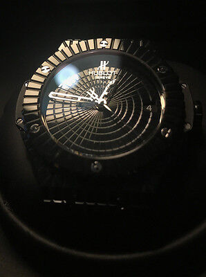 Flawless HUBLOT Big Bang Caviar Black Ceramic Watch 346.CX.1800.BR 41m Sang Bleu