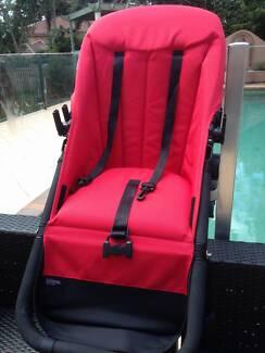 Bugaboo Cameleon red seat, bassinet, and basket set