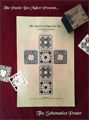 Hellraiser Puzzle Box Schematics - Lithograph Print - UV Protection - Archival