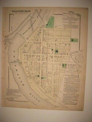 Map of Hazleton Pennsylvania c1884 30x24