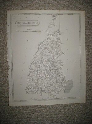 MPORTANT ANTIQUE 1805 NEW HAMPSHIRE ARROWSMITH & LEWIS COPPERPLATE MAP SUPERB N
