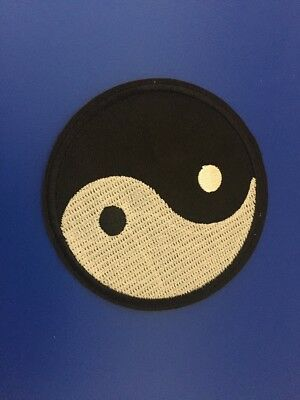 Tai Chi Patch, Embroidered Yin Yang Patch, Yinyang Iron on Patch Sew on Patch