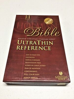 HOLMAN ULTRA THIN REFERENCE BIBLE BLACK – NEW IN BOX