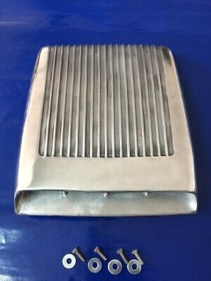 Fits 60's Ford Mustang GT/350 Falcon Hood scoop Functional Finned Cast Aluminum  - Mustang Functional Hood Scoop