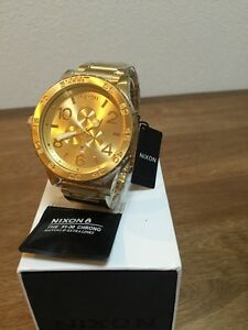 NIXON watch 51-30 CHRONO ALL GOLD A083-502 A083502  NEW for sale