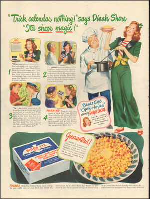 Vintage ad for Birds Eye Frosted Foods`Art Dinah Shore Corn  (021718)