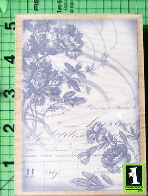 Floral Collage rubber stamp by Inkadinkado Floral Collage Stamp