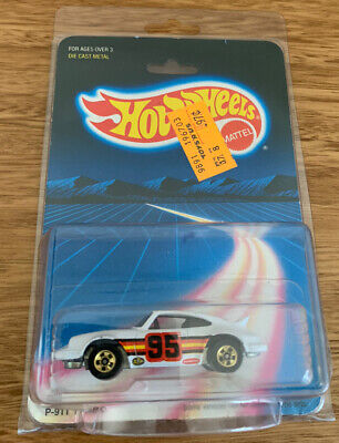 Hot Wheels Porsche P-911 Turbo #3969 Sealed 1986 White Rare Diecast Metal Base