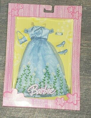 Barbie 2005 Spring Gala Blue Ball or Bridesmaid Gown with Shoes & Handbag Purse