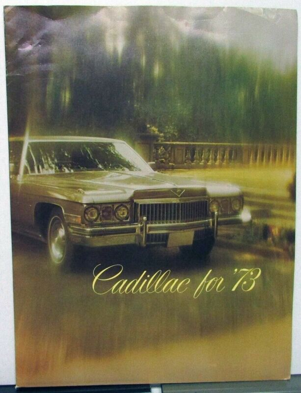 1973 Cadillac Calais DeVille Fleetwood Eldorado 75 Limo Press Kit Media Release