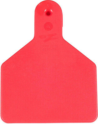 Z Tags Blank Calf One Piece Ear Tags 25 Count Red