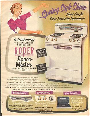 1953 Vintage AD ROPER Space Master Gas Range Kitchen Stove   013116