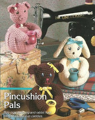 - 3 Animal Pincushion Pals crochet PATTERN INSTRUCTIONS