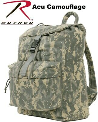 Acu Camouflag Canvas Military Daypack Backpack Knapsack Rucksack School Bag  2670 63ca0cf50cf75
