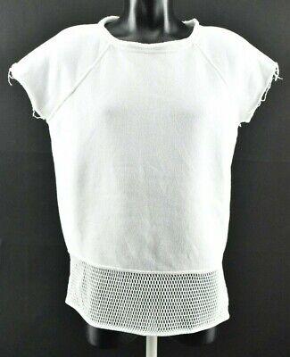 Alexander Wang Women`s Shirt Short Sleeve Crew Neck White Top 100% Cotton size M