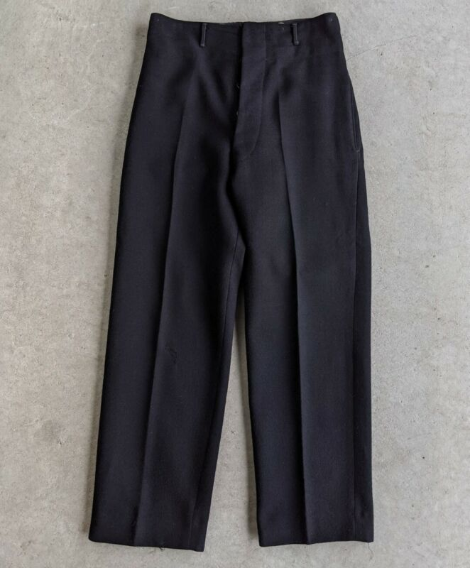 Vintage 1949 1940s Bond Clothes Canadian Military Wool Trousers sz 33