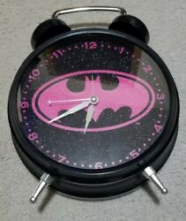 Batman Alarm Clock Desk, Home or Office Pink and BlackDecor Nice For Gift