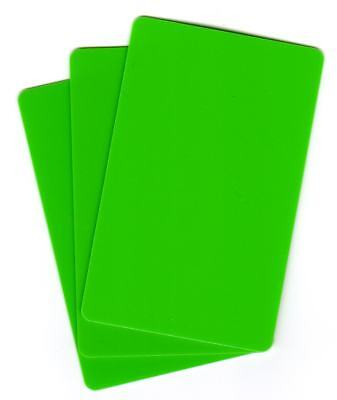 Zebra Plastikkarte Drucker (250 Plastikkarten für Kartendrucker, grün, Rohlinge, Zebra, blanko, PVC Karten)