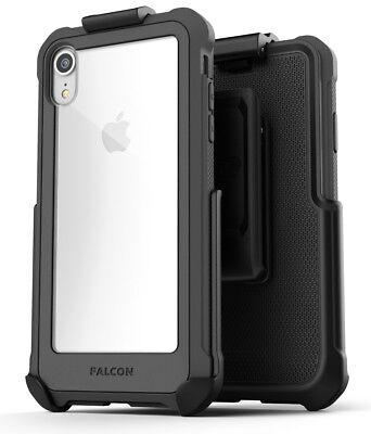 iPhone XR Belt Clip Clear Case / Cover with Holster, Protective Case Falcon Grey Cover Case Clear Belt Clip