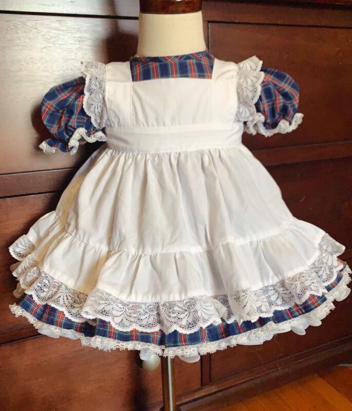Vintage Toddler Girl 2 piece plaid dress