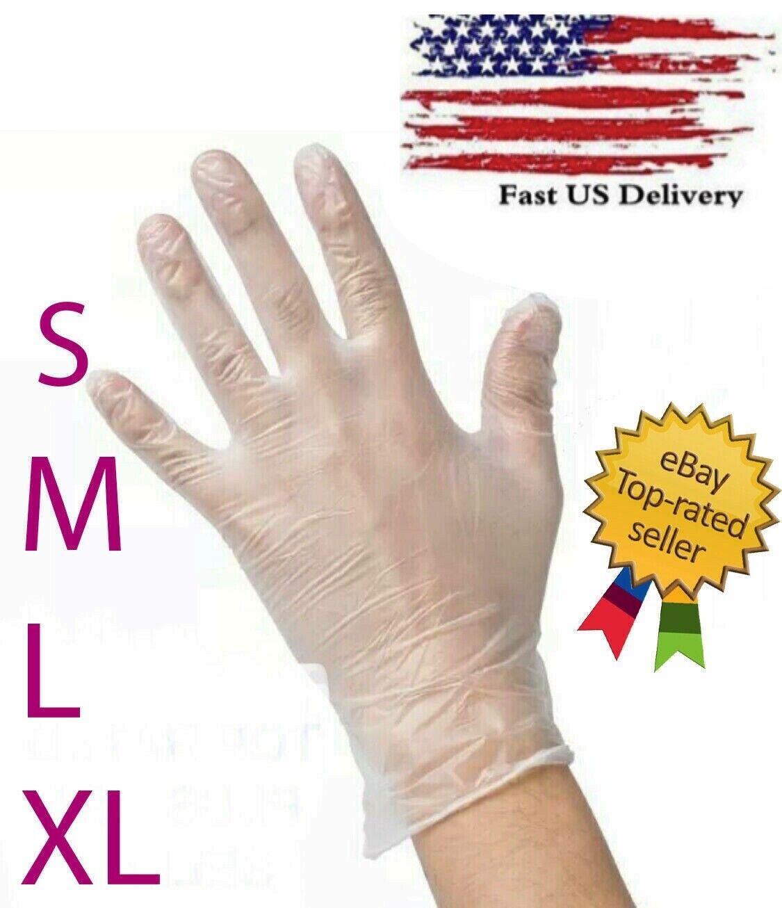 100 pcs vinyl gloves clear powder free