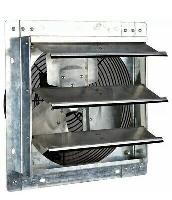 Iliving Ilg8sf12v 12 Inch Variable Speed Wall Mounted Steel Shutter Exhaust Fan