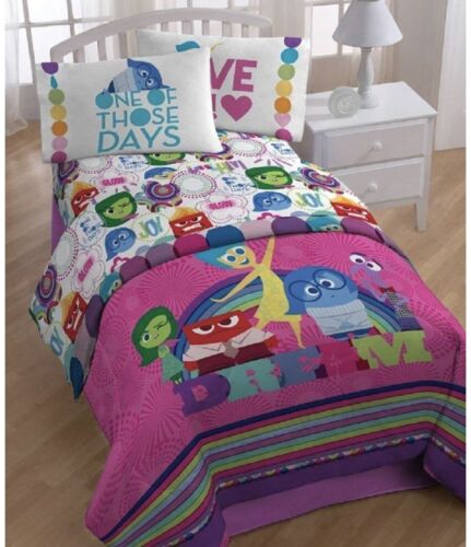nEw Inside Out GIRLS DISNEY 4 Pieces Twin BEd COMFORTER